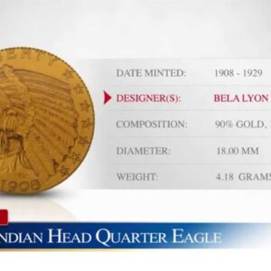 $2.50 Gold Indian Head Quarter Eagle - Goldco Precious Metals