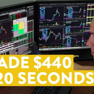 [LIVE] Day Trading | I Made $440 in 20 Seconds (seriously!)