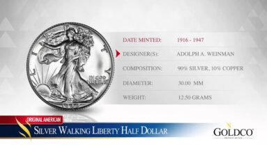 Silver Walking Liberty Half Dollar - Goldco Precious Metals