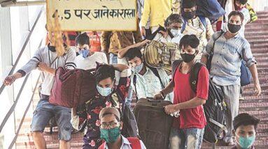 Fearing lockdown as Covid cases spike, migrant workers begin leaving Delhi