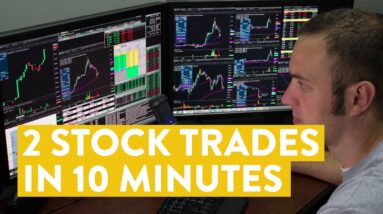 [LIVE] Day Trading | 2 Stock Trades in 10 Minutes (Make Money?)