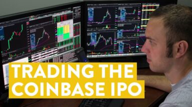 [LIVE] Day Trading | I Traded the Coinbase Stock ($COIN) IPO...