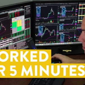[LIVE] Day Trading | I Worked for 5 Minutes (here's the results...)